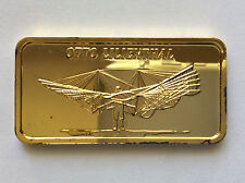 1976 Hamilton Mint Otto Lilienthal Silver Art Bar HAM-668G A5023