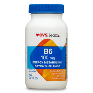 CVS Health Vitamin B6 Tablets 100mg , 250CT Exp 3/2022