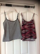 Ladies Two Vest tops size 10 & S