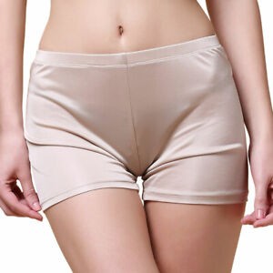 Women's Pure Silk Knit Boyshorts Under Panties 2301