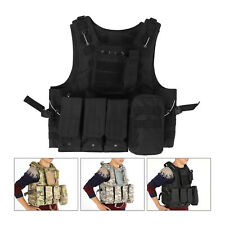 Military Tactical Vest Combat Army Plate Carrier Vest Unisex Tactical Vest