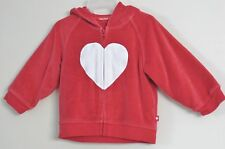 babyGap Girls Size 6-12 Months Red Front Zip Fleece Long Sleeve Hoodie Sweater