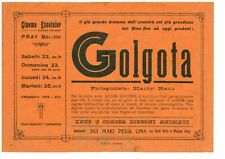 locandina cinema film Golgota 1936