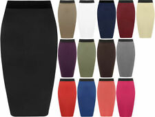 Viscose Straight, Pencil Solid Skirts for Women