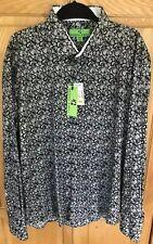 BRISTOL & BULL Mens Button-Down Shirt new L/S Paisley Black Size 2XL XXL NWT