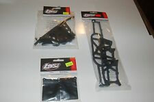 Team Losi TLR SCTE Front and Rear Stock Bumper Black Replacement With Mud Flaps
