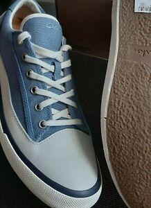 Clarks Mens/Ladies Aceley Lace Blue Canvas Eco Trainers UK 8 /EU 42 /RRP £69
