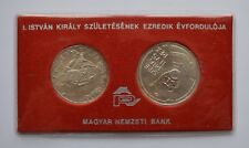 More details for 1972 hungary magyar  stephen silver coin set 50 & 100 forint