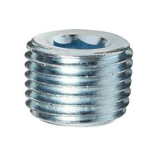 "Steel Male Hex Pipe Plug 1/8"" NPT MPT MNPT Countersunk Allen Key Fitting"