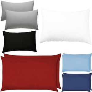 Pack Of 2 Plain Dyed Pillow Case Housewife Poly cotton Pillow Cover 50 x 75 cm