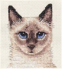 SIAMESE CAT, KITTEN ~ Full counted cross stitch kit  *FIDO STUDIO