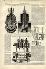 1887 William Denny construcción naval Dumbarton Dennis Fullway Válvula Wilkinson Lister
