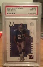 2000 SP Authentic Ron Dayne Rookie Card RC #/1250 NY Giants PSA 9