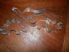 Vintage Dinosaur Shapes Metal Cookie Cutter Set