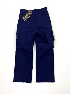 Boy Scouts of America Convertible Switchback Uniform Pant Youth 10 Unhemmed NWT