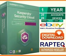 Kaspersky Security Cloud -Family 20 Devices 1 Year PC/Mac/Android UK VAT EMAILED