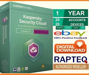 Kaspersky Security Cloud -Family 20 Devices 1 Year PC/Mac/Android UK only