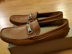 Lacoste Ansted 419 1 U Leather Mens Loafers, New Tan Casual Walking Shoes 12