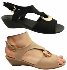 Buckle Low (3/4 in. to 1 1/2 in.) Wedge Sandals & Flip Flops for Women