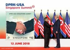 SINGAPORE 2018 DPRK - USA TRUMP KIM SINGAPORE SUMMIT COLLECTOR'S STAMP S/SHEET