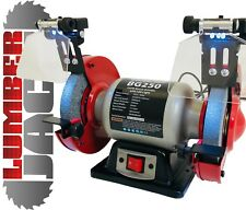 "New Heavy Duty Workshop Twin Wheel 250w 150mm 6"" Bench Grinder and Polisher 230v"