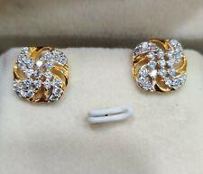 0.50 Ct Diamond 14K Yellow Gold Finish Push Back Nice Earrings
