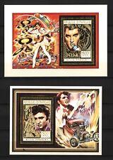République Afrique centrale 1993-Elvis Presley - 24k goldfolie - 2 rues Musique Neuf sans charnière