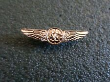 "U.S Military Navy Miniature Gold Air Crew Wings 1 1/8"" Inches Wide Hat Pin Lapel"
