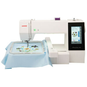 Janome Memory Craft 500E MC500E Embroidery Machine with Bonus Bundle