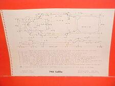 1966 CADILLAC ELDORADO DEVILLE CONVERTIBLE FLEETWOOD 60 FRAME DIMENSION CHART