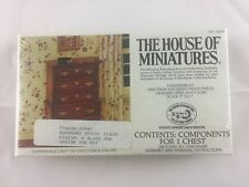 Vintage House of Miniatures Chippendale Chest on Chest w/ Stain & Sealer #40009