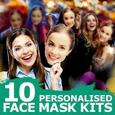 25 x personnalisé photo Visage Masques Kits for STAG /& poule nuit et Birthday parties