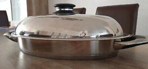 12 cm hoch oval Camping Kochgeschirr Edelstahl Topf Kochtopf Speisebeh/ölter Kasserolle 1 L Hummelladen Edelstahltopf mit einklappbarem Griff und Innenbeh/ölter