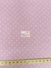"SMALL POLKA DOT POLY COTTON FABRIC - 5 Colors - SOLD BTY 58""/59"" POLYCOTTON"
