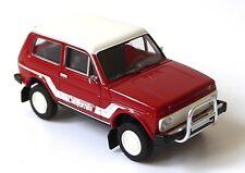 H0 BREKINA Lada Niva 1.7 i Geländewagen California rot weiß Bullfänger # 27215