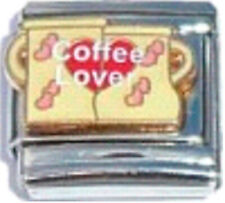 COFFEE LOVER CAPPUCCINO Enamel Italian 9mm Charm FO027 Fits Nomination Classic