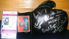 Carlos Ortiz Burt Sugar Ruben Olivares autographed boxing glove JSA COA HOF