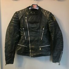 VINTAGE 80'S DISTRESSED MOTO CUIR LEATHER BRANDO MOTORCYCLE JACKET SIZE 40