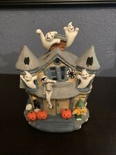 Retired Partylite Haunted House Halloween Tealight Candle Holder