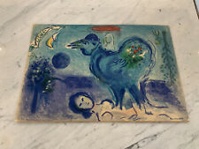 Marc Chagall Litho Landscape With Rooster 1958