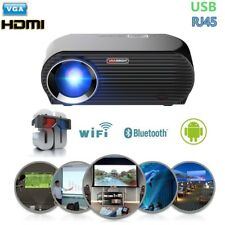 4600Lumen Video Projector Android Wifi Bluetooth 1080p LED Home Theater Wireless