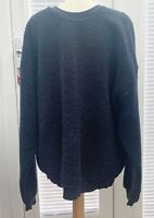 URBAN OUTFITTERS MENS BLUE LONG SLEEVED SHERPA FLEECE TOP SIZE S - USED