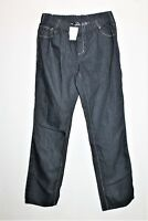 NOW Brand Blue Black Color Pull On Straight Leg Jeans Size L BNWT #TK17