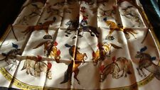 Hermes scarf. En Piste,  by Robert Dallet, NEW, with box and ribbon