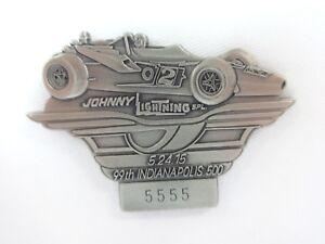 2015 Indy 500 99th Silver Pit Badge Al Unser Sr. Johnny Lightning Parnelli Jones