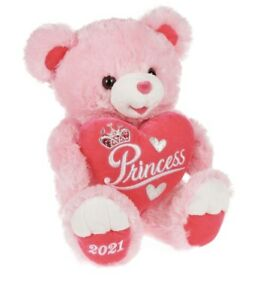 Way To Celebrate Valentine's Day 2021, Princess,  Teddy Bear, 19""