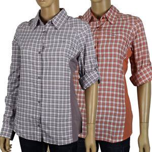 "New Womens Columbia ""Silver Ridge Plaid II"" Omni-Shade Wick LS Fishing Shirt"