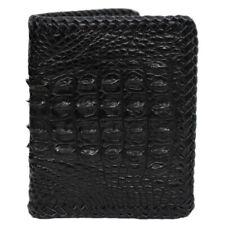 Black Genuine Crocodile Alligator Skin Leather Men's Bifold Wallet