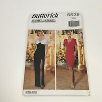 Butterick Sewing Pattern 6529 Jessica Howard Dress Evening Party UC 6 8 10