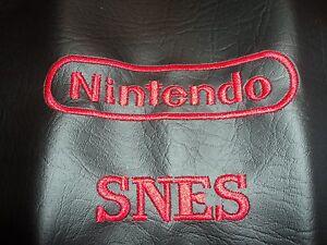 Super Nintendo Custom Made Dustcover Red Logo